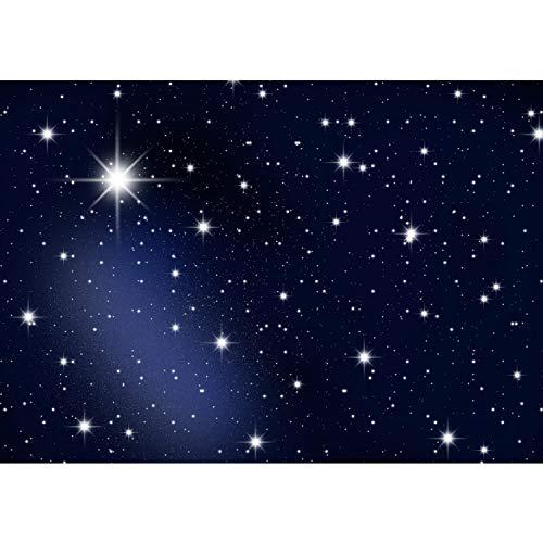 Fototapete Wand Foto Tapete Bild Vliestapete selbstklebende Textiltapete - A MILLION STARS - Sternenhimmel Stars Sterne Leuchtsterne Nachthimmel - no. 028, Größe:200x140cm Vlies
