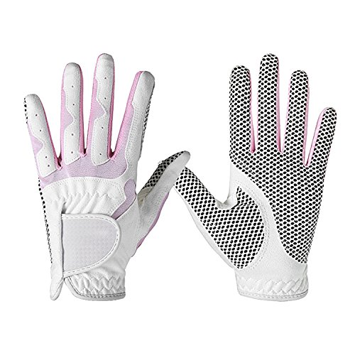 YJZQ Guantes de golf para mujer, transpirables y antideslizantes, 2 unidades, mano derecha izquierda, sistema de agarre mejorado, fresco y cómodo (1 par)
