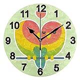 FULUHUAPIN Reloj de San Valentín para baño, cocina, reloj de pared para niña niño sin tictac, silencioso, fácil de leer para decoración de dormitorio 22.5 pulgadas, reloj redondo 20301423