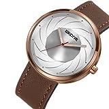 SJXIN Orologio Da Polso SKONE orologio da uomo personalizzato quadrante creativo movimento al quarzo impermeabile moda casual orologio da uomo moda casual (Color : 1)