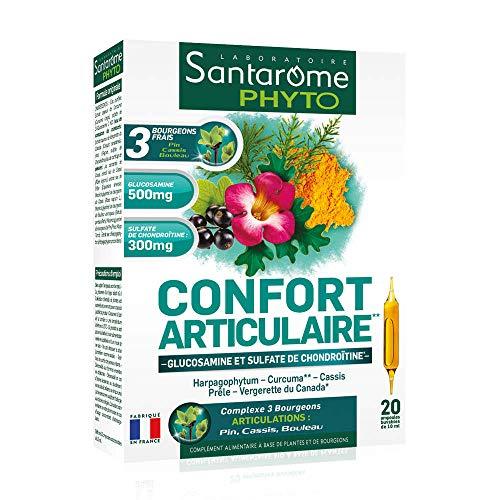 Santarome Bio 20 Ampoules Complément Alimentaire Confort Articulaire Programme 20 Jours, SA016