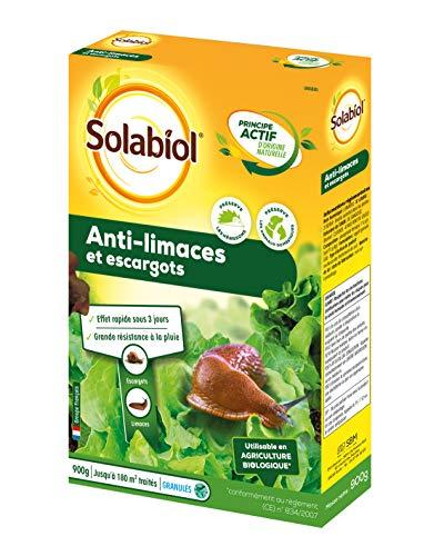 SOLABIOL SOLIMA900 Anti Limaces et Escargots Granules dOrigine Naturelle   900 gr   Jusquà 180 m² de traités   Résiste Sous La Pluie   Utilisable en Agriculture Biologique