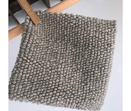 LIS - Almohada de lana natural hecha a mano, sin crueldad, para sala de estar, dormitorio, almohada en color gris