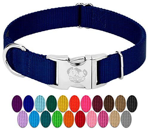 Country Brook Petz - Premium Nylon Dog Collar with Metal Buckle
