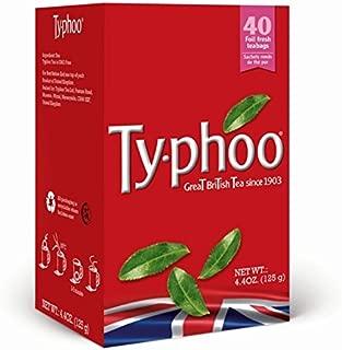Typhoo Regular Black Tea Bags, 40-Count (Pack of 6)