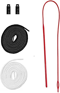Replacement Drawstrings for Pants Sweatpants Shorts Hoodies Scrubs Jackets Swim Trunks Black & White 60