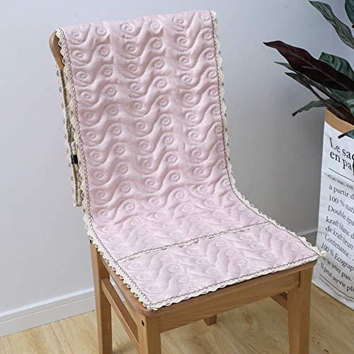 DIELUNY Cojines acolchados para silla mecedora de color sólido, cojín de banco para patio, ventana de la bahía, decoración del hogar, cojines de silla de comedor, color rosa, 40 x 135 cm