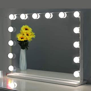 Hollywood Mirror,Vanity Mirror with Lights.Led Makeup Mirror with 14pcs Led Bulbs Dressing Table Mirror with Lights 3 Ligh...