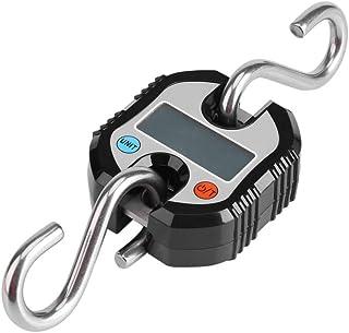 Báscula de equipaje, mini grúa portátil LCD digital electrónica Gancho balanza colgante balanza de bucle balanza digital v...