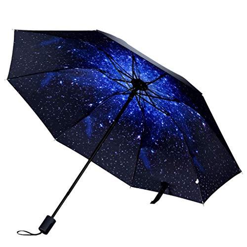 YNHNI Tres Pliegues, Paraguas Impreso, Paraguas Plegables manuales compactosp; Sun UmbrellarEENSP; Parasol al Aire Libre portátil Ligero con Paraguas para Todos,Portátil (Color : A)