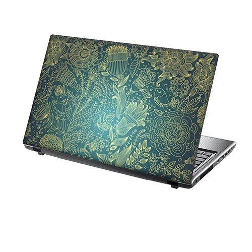 TaylorHe Laptop Skin Pegatina de vinilo Adhesivo para portátiles 15,6' 15' (38cm x 25,5cm) Productos de Gran Bretaña vides, flores, azul