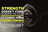Powerful Gym Motivation Inspiration Poster 24x36 Body Building Fitness Health Well-Being Beauty