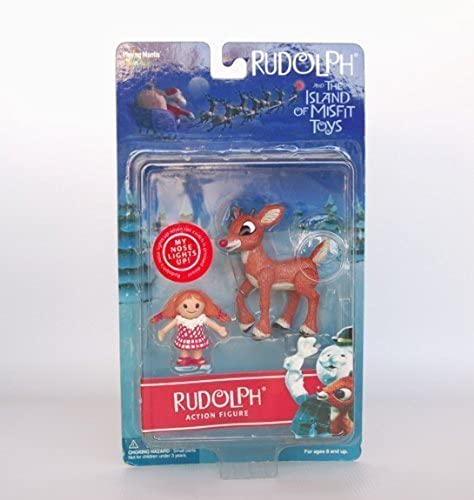 Rudolph Misfit Action Figure - RUDOLPH and MISFIT DOLL 2001 by Playing Mantis