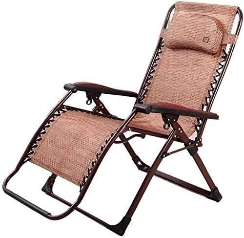 YUYANDE Sillones de cacahueces ajustables al aire libre con almohada, cero gravedad, silla plegable de la silla de la silla de patio portátil reclinables al aire libre para la silla de césped de la si