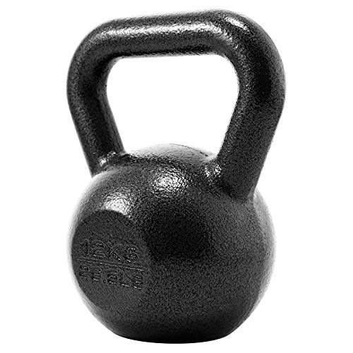 PROIRON Cast Iron kettlebell Weight for Home Gym Fitness & Weight Training (4kg-24kg) (1 x 12KG)