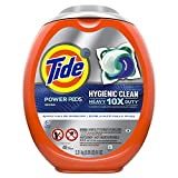 Tide Hygienic Clean Heavy 10x Duty Power PODS Liquid Laundry Detergent, Original, 48 count, For Visible and Invisible Dirt (Packaging May Vary)