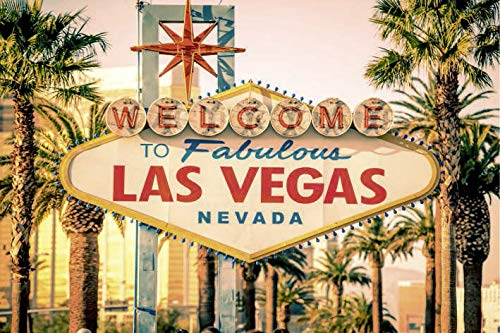 Scenolia - Cuadro sobre Lienzo Welcome to Las Vegas (60 x 40 cm), decoración de Pared, 100% fabricación Francesa