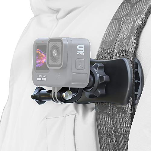 SUREWO 360° Rotation Backpack Strap Mount Quick Clip Mount Compatible with GoPro Hero 9,8,7, Hero(2018),6,5,4,Session,3+,Fusion,DJI Osmo,AKASO,Campark,Crosstour Action Cameras