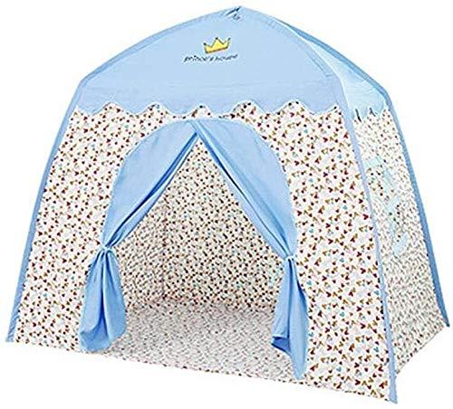 Children's Tent, Children's Playhouse Tent Kids Play Tent Castle Large Tipi Tent Imagination Teelt eenvoudig te monteren Playhouse 51.1839.3751.18in dmqpp (Color : Blue)