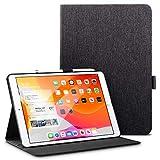 ESR Buchdeckel Hülle Kompatibel mit iPad 10,2 2019 Hülle für iPad 7. Generation - Leichtes Urban Premium Folio Case mit Pencilhalter, Vielseitigem Ansichtsmodus & Auto Schlaf/-Wachfunktion - Charcoal