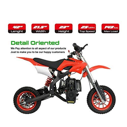 NHT Mini 40CC Gas Pocket Dirt Bike Motorcycle Off-Road w/Automatic Pull Start...