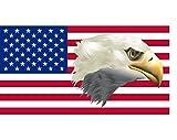 Etaia 5,4x10,4 cm - Auto Aufkleber Fahne/Flagge der USA mit Adler Amerika America Flagge Sticker Motorrad Bike Biker