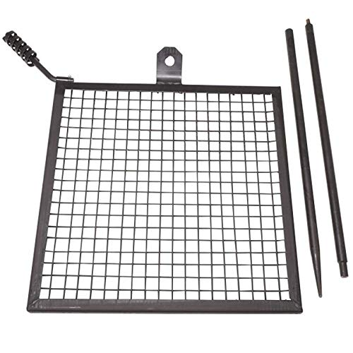 Titan Campfire Swivel Open Fire Grill Grate with Spike Pole