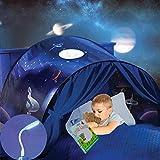 Mgee Tienda Campaña Infantil Tienda de Cama para Niños, Pop up Tienda, Carpa Juego Plegable Mágica, Regalos De Cumpleaños (B-Azul)