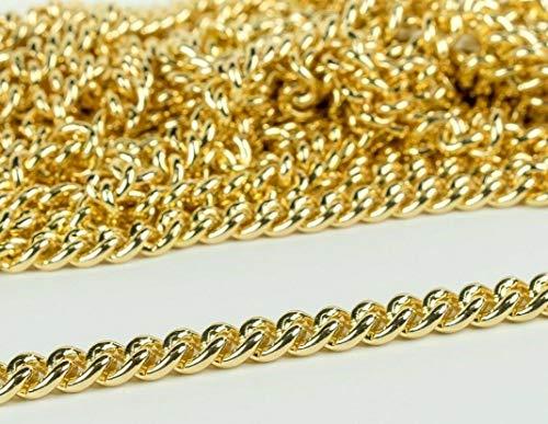 Chaîne en métal doré de haute qualité (sans plomb) 13 mm de large – sacs à main, bijoux, artisanat 1.2 Metres (47 inch) doré