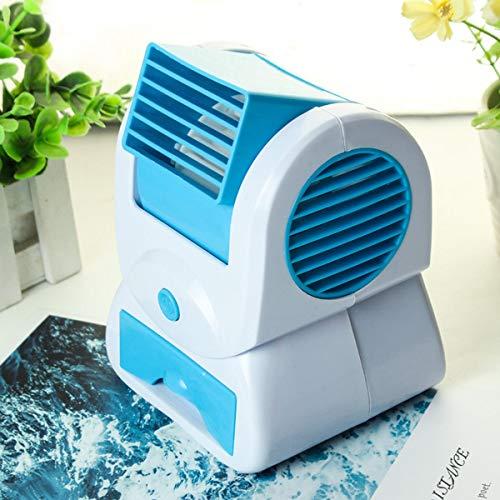 Aerogenerador, Panel solar completo fuera de la red RV Mar USB sin hojas del ventilador del acondicionador de aire eléctrico del refrigerador del incienso, aromaterapia mini portátil (Color : Blue)