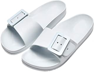 Summer male and female home indoor slippers non-slip couple slippers soft bottom bathroom slippers-Light blue_38