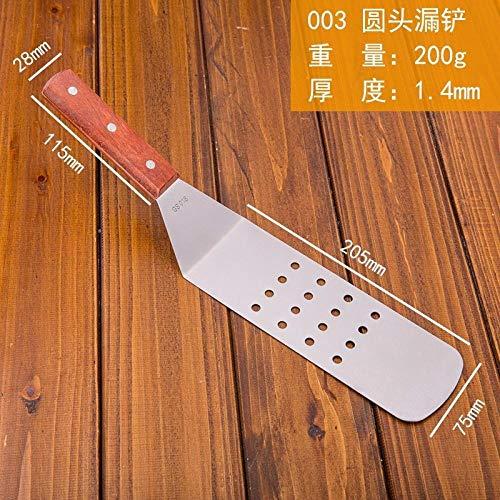 Teppanyaki schep schep roestvrijstalen steak schep schep pizza pizza handbediende taart driehoek schep-003 schop met ronde kop