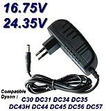 TOP CHARGEUR * Adaptateur Secteur Alimentation Chargeur 16.75V / 24.35V pour Aspirateur Dyson Vacuum Cleaner Dyson DC 16.75V / DC...