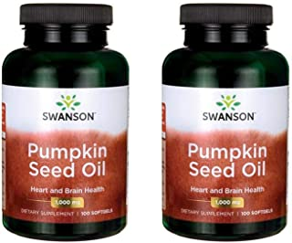 Swanson Pumpkin Seed Oil Brain Health Cardiovascular Support High Bioavailable Essential Fatty Acids (EFAs) Combination He...