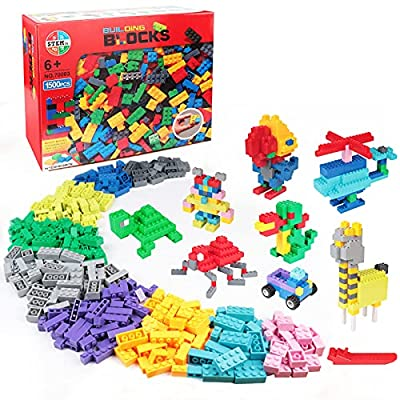 GARUNK Building Bricks 1000 Pieces Set, 1000 Pieces Classic Building Blocks in 11 Colors Compatible with All Major Brands