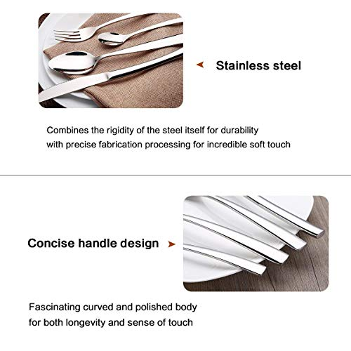 HOBO Silverware Set 24-Piece Stainless Steel Flatware Set