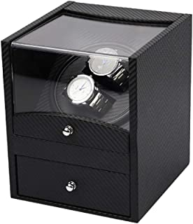 Lutingstore Watch Winder, High-grade Carbon Fiber Double Watch Winders with Quiet Motor, for Automatic Watches or Rolex, B...