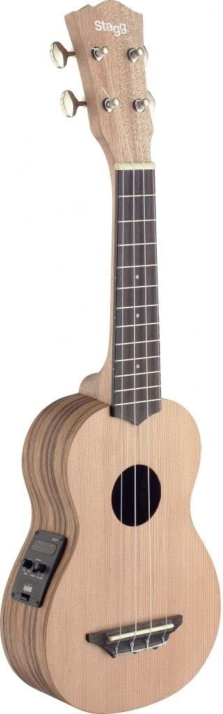 Max 47% OFF Stagg USX-ZEB-SE Quantity limited SopranoAcoustic-Electric Ukulele Ced Solid with