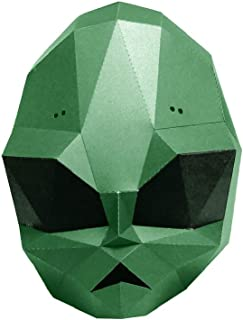 Clumsy 3D Paper Mask Party Halloween Helmet DIY Cosplay Creative Handwork Funny Masker Lovely