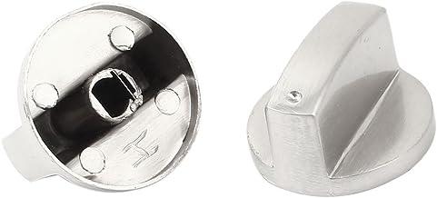 DealMux Metalen Keuken Gas Kookplaat Oven Range Kachel Knop 2 Stks Zilver Toon