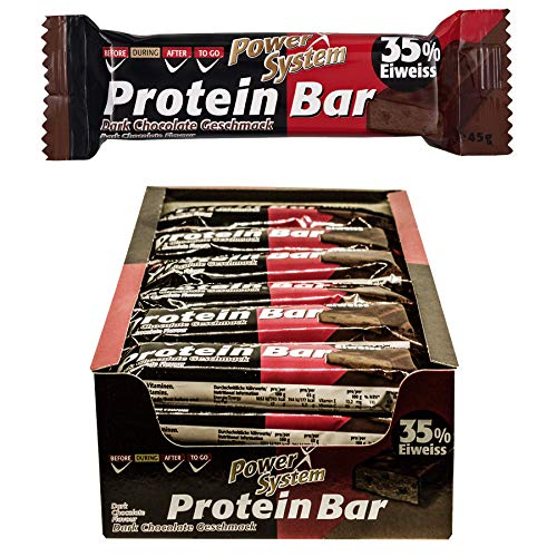 Power System Protein Bar 35% - 24 x 45g (Dark-Chocolate)