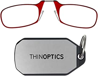 ThinOptics unisex-adult Keychain Case + Rectangular Reading Glasses