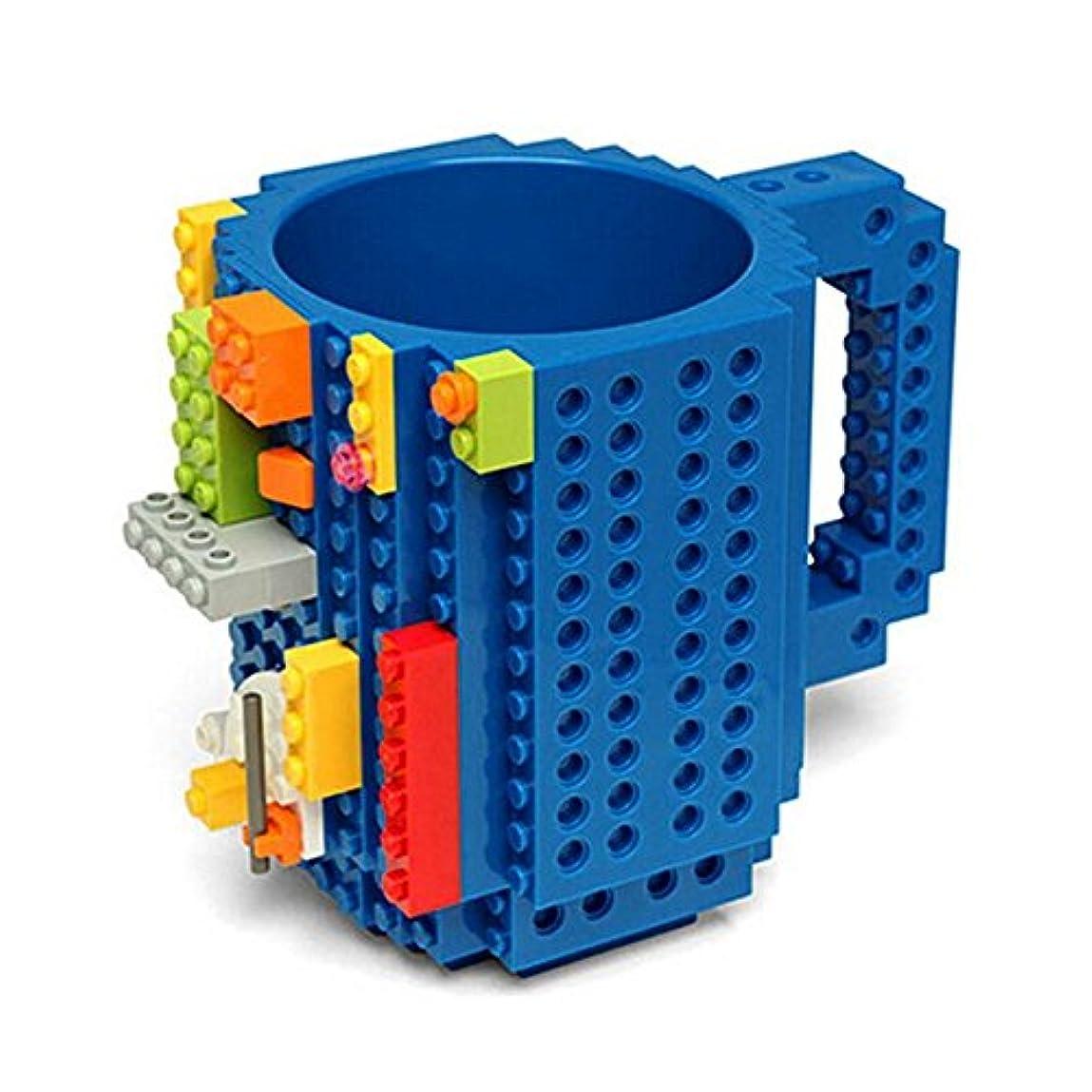 技術的なオリエント自治Maxcrestas - 350ML DIY?ビルディング?ブロックのカップレンガコーヒーティーカップ凍った水のドリンクカップDIYブロックパズルシッククリエイティブホームDrinkwares