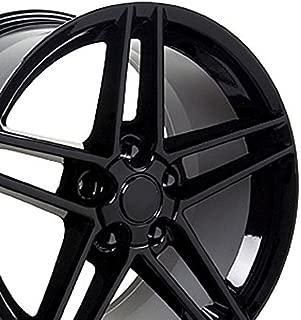 OE Wheels 19 Inch Fits Chevy Corvette C6 Z06 Style CV07B 19x10/18x9.5 Rims Gloss Black SET