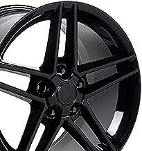 OE Wheels 18 Inch Fits Chevy Camaro Corvette Pontiac Firebird C6 Z06 Style CV07A Gloss Black 18x9.5 Rim