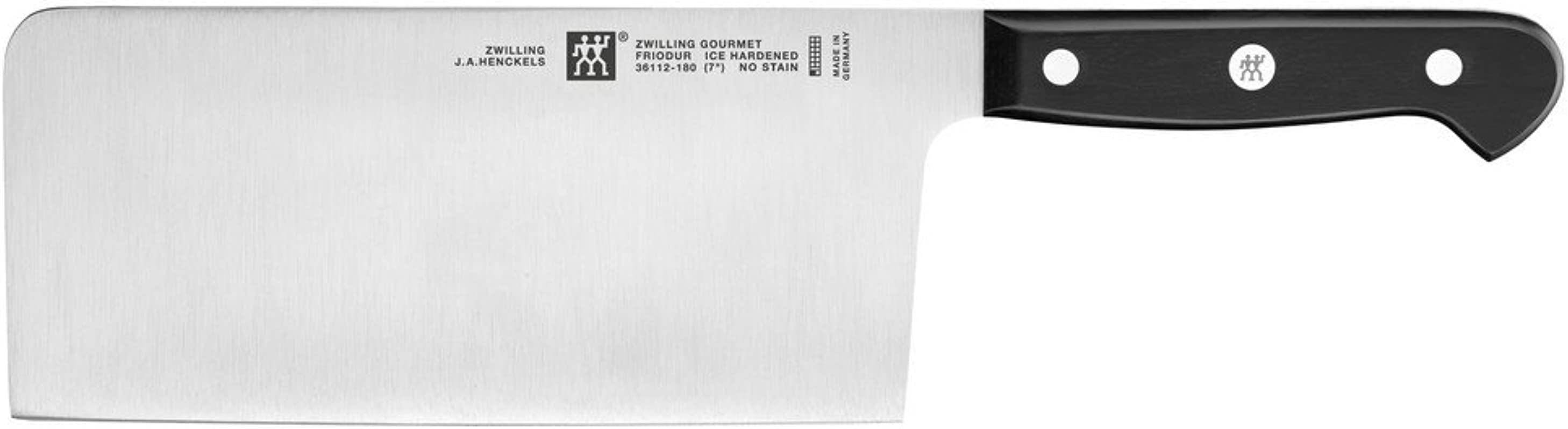 ZWILLING J A Henckels ZWILLING Gourmet 7 Chinese Chefs Knife Vegetable Cleaver Black Stainless Steel