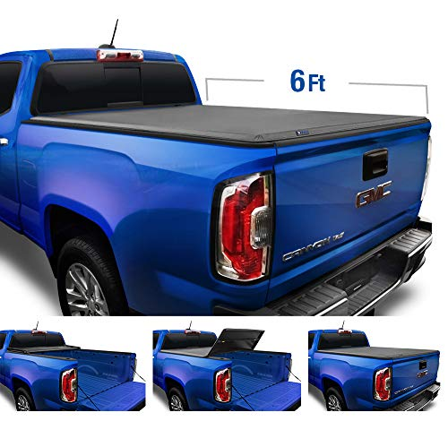Tyger Auto Black Top T3 Soft Tri-Fold Truck Tonneau Cover for 2015-2020 Chevy Colorado/GMC Canyon Fleetside 6'2' Bed TG-BC3C1040
