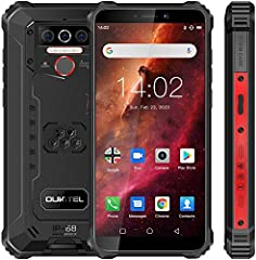 🏆【 Rugged and waterproof smartphone】 the companion of industrial worker and outdoor sports enthusiast. With its ultra solid, strong and reliable design (1.5 meters fall-resistant and waterproof; 99% dust-proof; resistance to high and low temperatures...