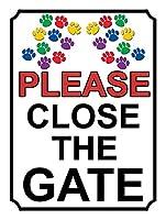 ゲートを閉じてください壁の金属ポスターレトロなプラーク警告ブリキの看板ヴィンテージ鉄の絵画の装飾バーガレージカフェのための面白いハンギングクラフト