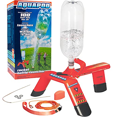 AquaPod Water Bottle Rocket Launcher Science Kit- STEM Toy Launches Soda Bottles Up to 100 ft in Air